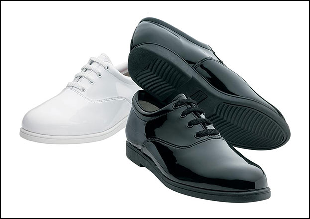 Formal Marching Shoe Men's Wide Width White