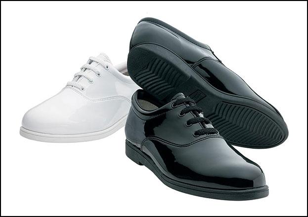 Formal Marching Shoe Men's Wide Width White