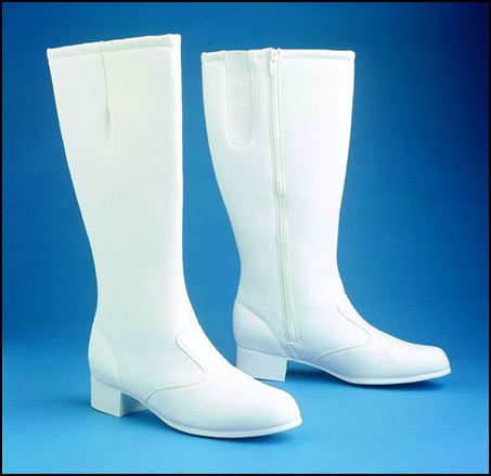 Holly Marching Knee Boots, Women's White