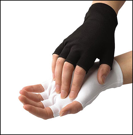 Nylon Half-Finger Gloves, One Size Fits All