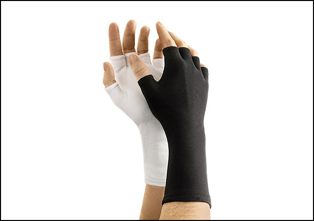 Nylon Long-Wristed, Half-Finger Gloves, One Size Fits All