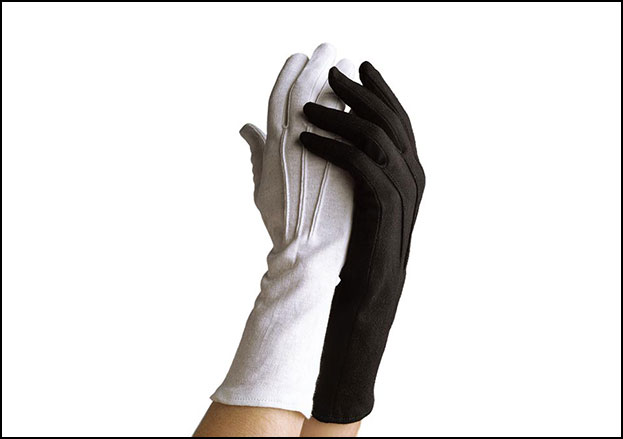 Long-Wristed Cotton Marching Gloves