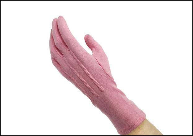 Pink Long-Wristed Cotton Marching Glove