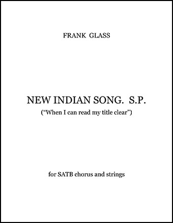 New Indian Song (Hymn)