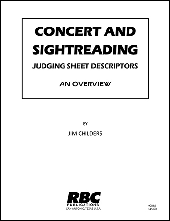 Concert and Sightreading Judging Sheet Descriptors - An Overview