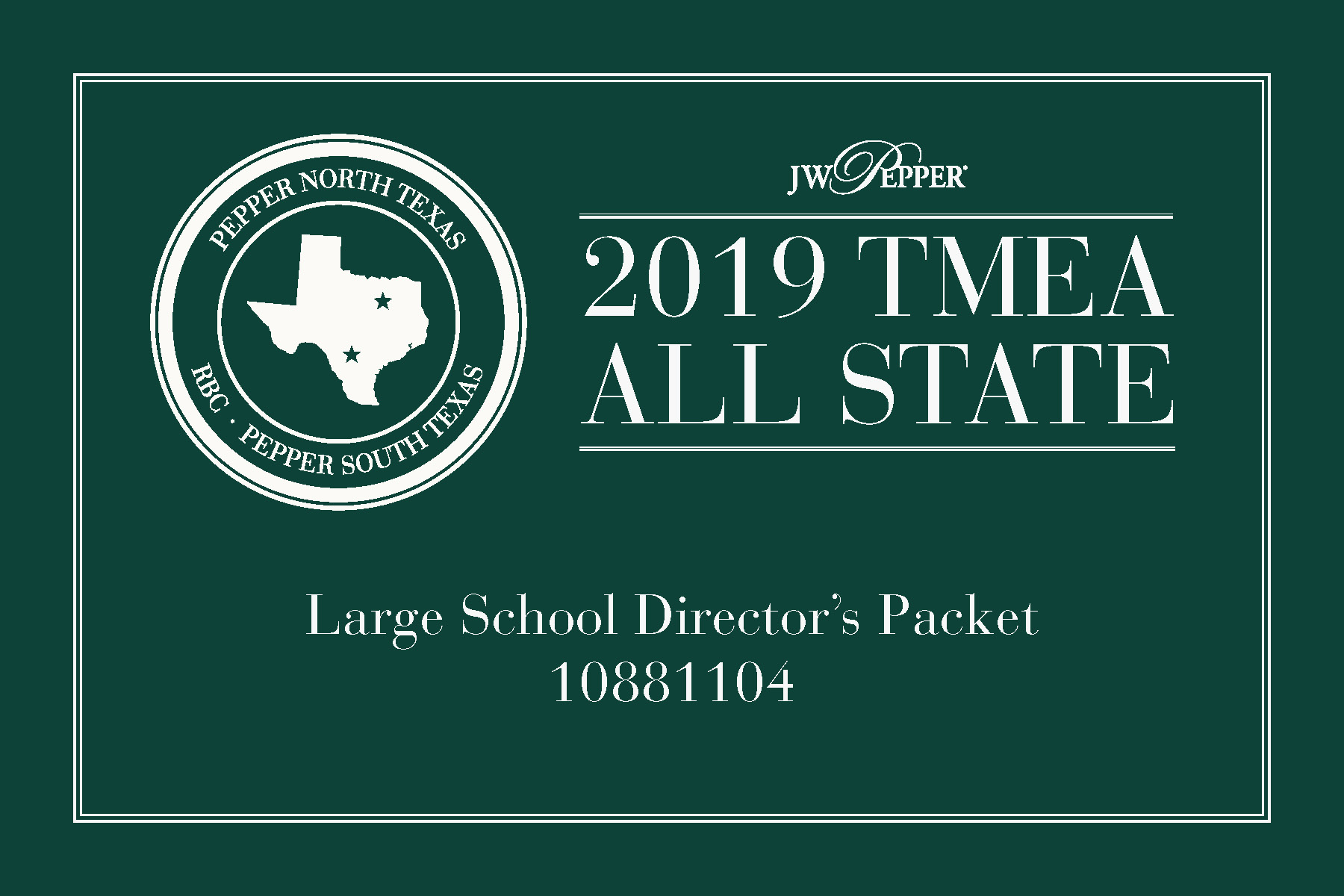 Texas All State 2019 - Large School Packet