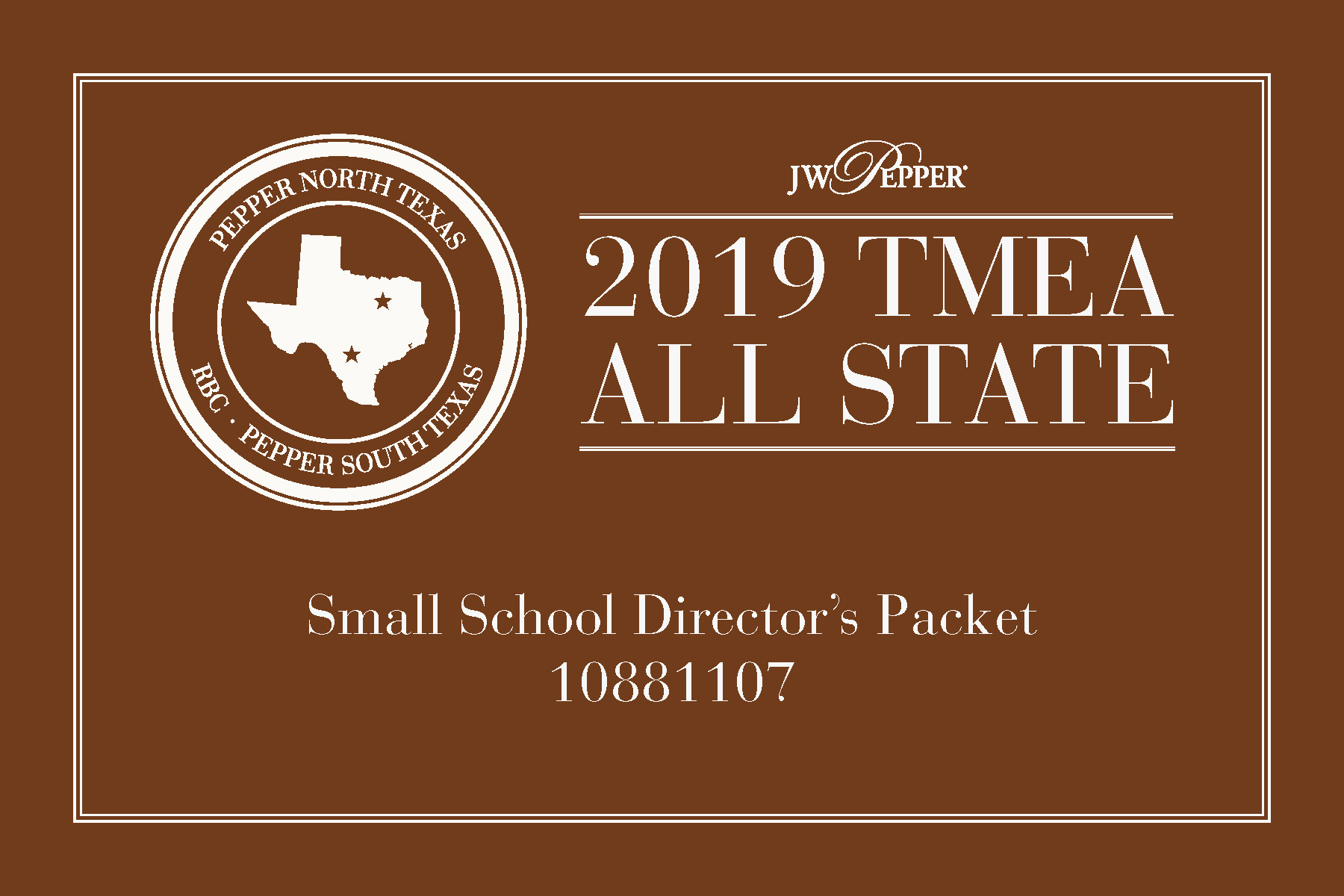 Texas All State 2019 - Small School Packet