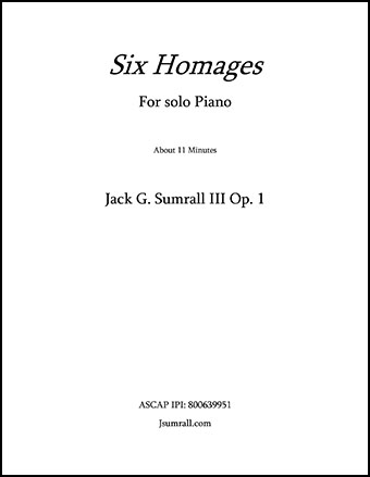 Six Homages Op.1
