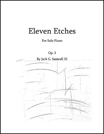 Eleven Etches for Solo Piano Op. 3