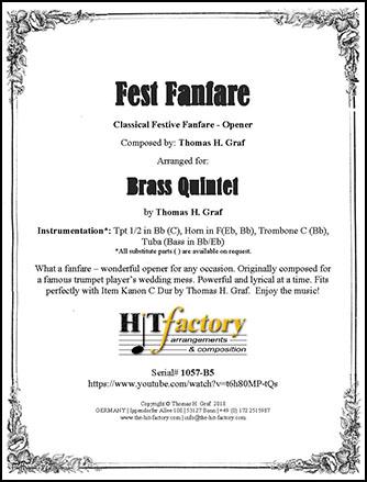 Fest Fanfare - Brass Quintet