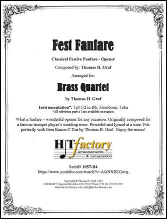 Fest Fanfare - Brass Quartet
