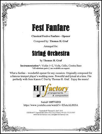 Fest Fanfare - String Quartet