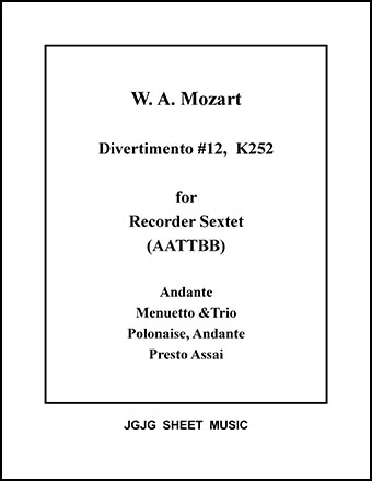 Divertimento No. 12 for Recorder Sextet