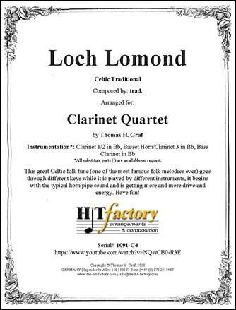 Loch Lomond - Clarinet Quartet