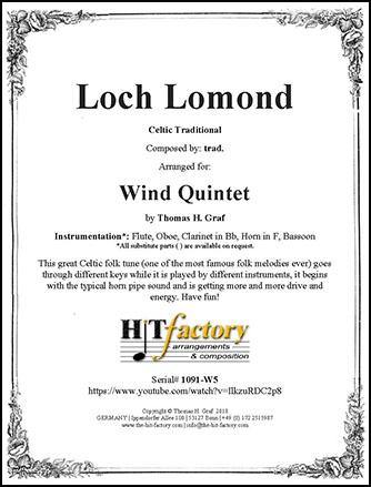 Loch Lomond - Wind Quintet