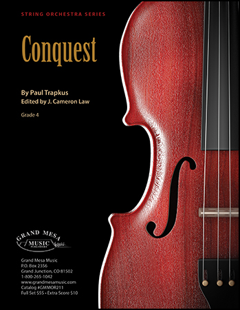 Conquest orchestra sheet music cover