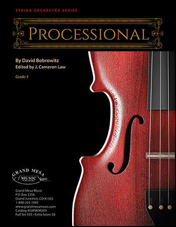 Processional orchestra sheet music cover