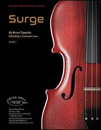 Surge orchestra sheet music cover