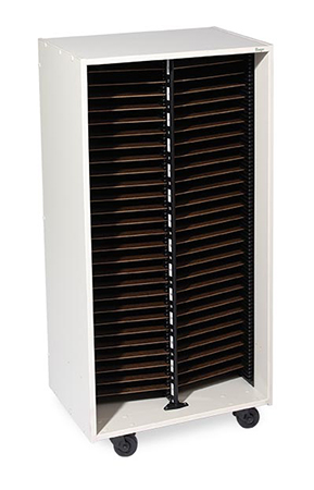 Mobile Band and Orchestra Folio Cabinet 2 Column No Doors
