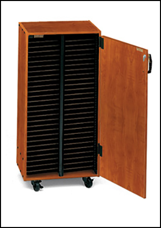 Mobile Choral Folio Cabinet 2 Column No Doors