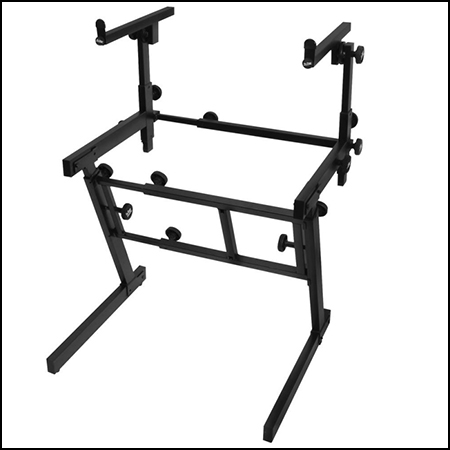 Pro Heavy-Duty Folding-Z Keyboard Stand with 2nd Tier