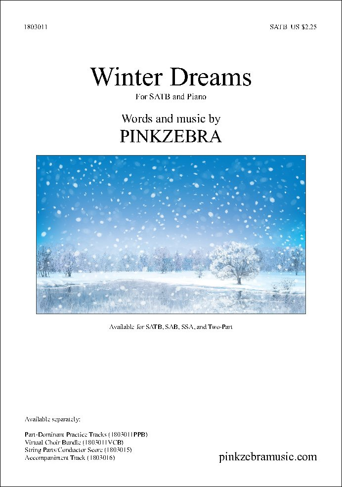 Winter Dreams choral sheet music cover