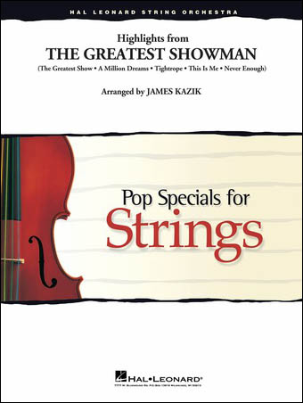 The Greatest Showman choral sheet music cover