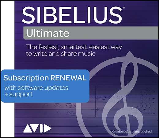 Sibelius-Ultimate 1-Year Software Updates and Support Plan, Multiseat RENEWAL Educational