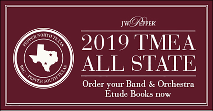 Texas All State Band Etude Books
