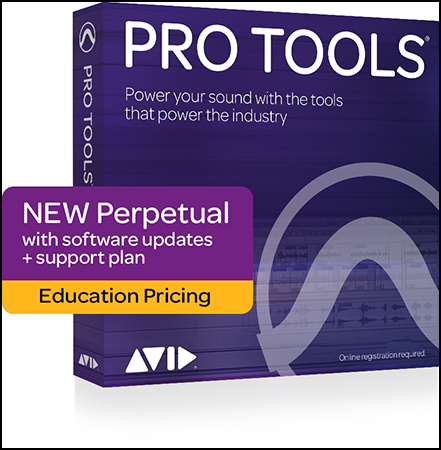 Pro Tools Perpetual License Boxed Student Teacher Edition pro audio image