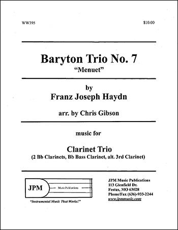 Baryton Trio #7, Menuet