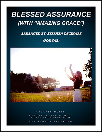 Blessed Assurance/Amazing Grace (SAB)