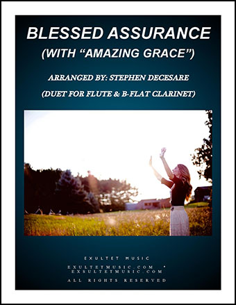 Blessed Assurance/Amazing Grace (Duet for Flute & Bb-Clarinet)