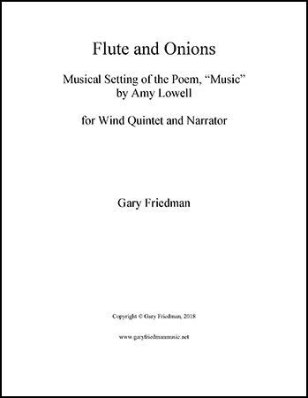 Flute and Onions (Wind Quintet and Narrator)