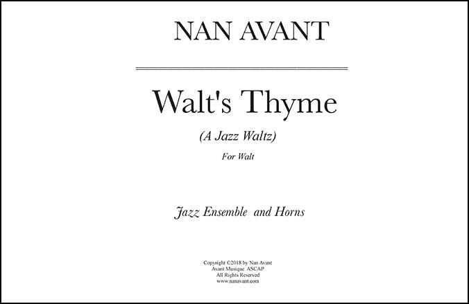 Walt's Thyme