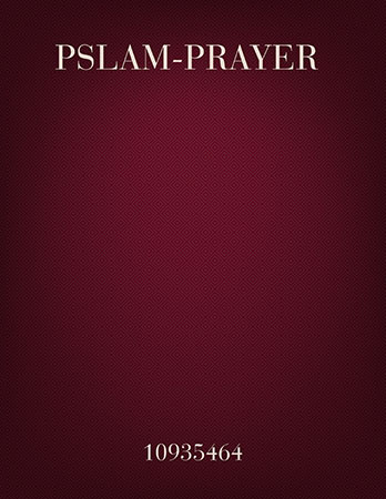 Psalm Prayer