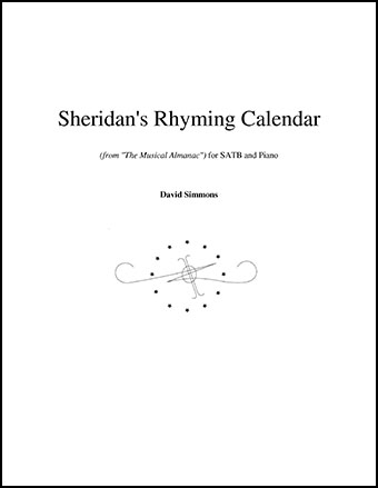 Sheridan's Rhyming Calendar (SATB ) by David | J W  Pepper Sheet Music
