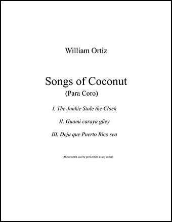Songs of Coconut (Instrumental Parts ) by Wi | J W  Pepper