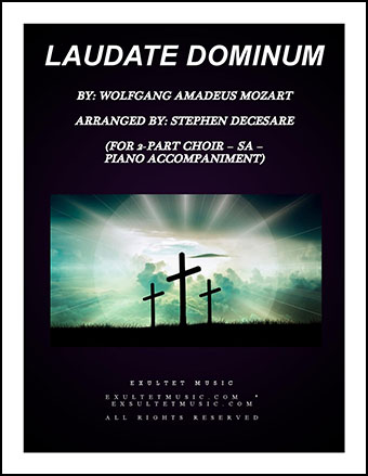 Laudate Dominum (SA with Piano)