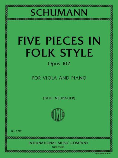 Five Pieces in Folk Style, Op. 102