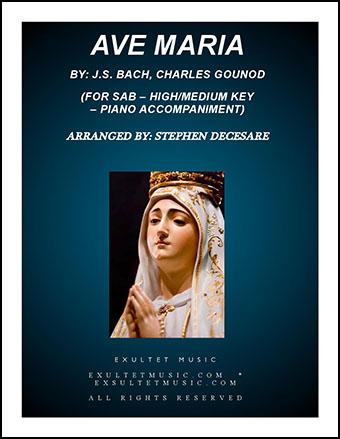 Ave Maria (SAB) High/Medium Key with Piano