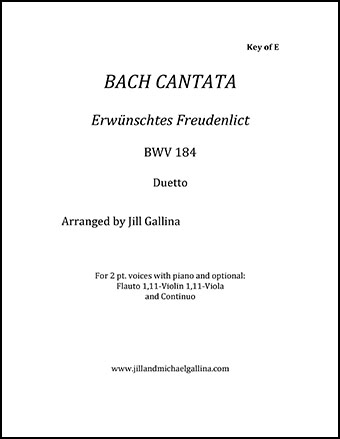 Cantata Erwunschtes Freudenlict BWV 184