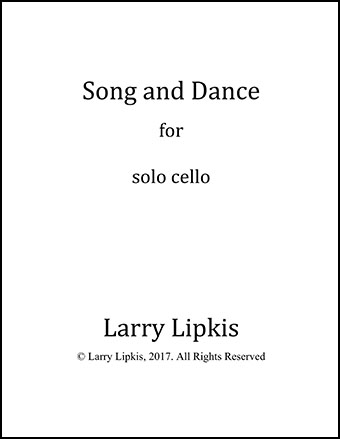 Song and Dance for solo cello