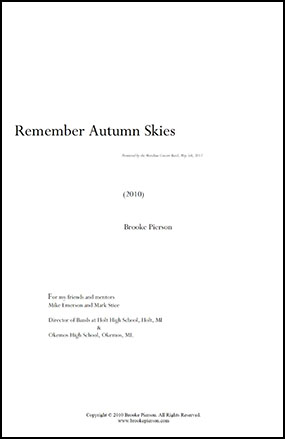 Remember Autumn Skies