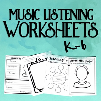 Music Listening Worksheets Level One