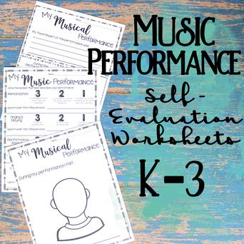 Music Performance Self-Evaluation: Grades K-3