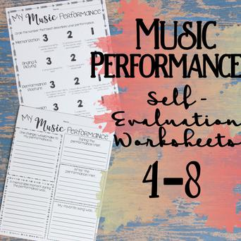 Music Performance Self-Evaluation: Grades 4-8