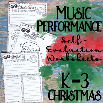 Music Performance Self-Evaluation: K-3 Christmas