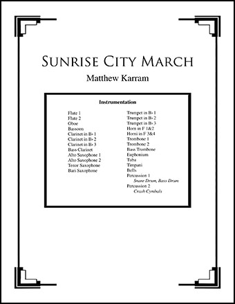 Sunrise City March
