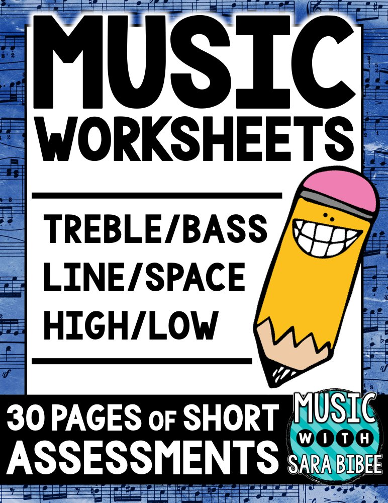Worksheets for Teaching Line/Space in Treble/Bass Clef